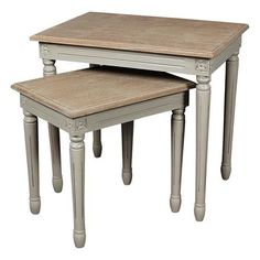 Showcase lovely spring bouquets or your favorite family photos on this elegant accent.    Product: Small and large nesting tables...