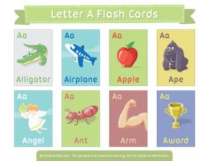 Letter A Flash Cards