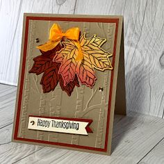 Fall Cards, Holiday Cards, Christmas Cards, Winter Cards, Thanksgiving Greetings, Thanksgiving 2020, Leaf Cards, Paper Pumpkin, Pumpkin Cards