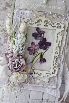 Jaw droppingly unashamedly romantic handmade card by Nastica. СкрапТеремок…