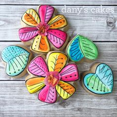 Whimsical Flowers, water color fantasy by Dany's Cakes   Cookie Connection