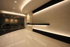 流線美で魅了する未来的かつエグゼクティブなエレガントオフィス |オフィスデザイン事例|デザイナーズオフィスのヴィス