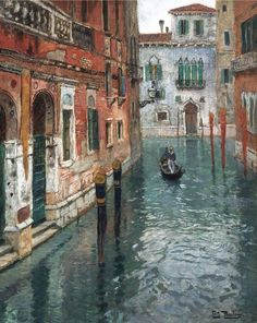 """View of Venice"" by Frits Thaulow"