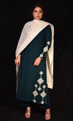 Sleeves Designs For Dresses, Neck Designs For Suits, Dress Neck Designs, Punjabi Suit Neck Designs, Gharara Designs, Kurti Designs Party Wear, Hand Embroidery Dress, Embroidery Suits Design, Punjabi Suits Designer Boutique
