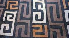 African Kuba Cloth KC029 - Raffia Textile