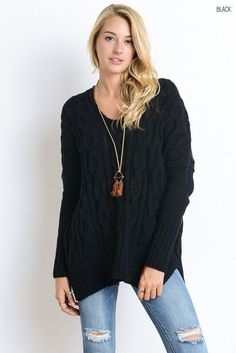 Charisma Cableknit Sweater (Several Colors)