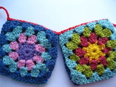 Attic24 shows very clearly how to attach granny squares to one another.