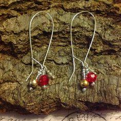 Sunset kidney earrings by CharlysGems
