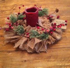 Rustic Holiday Centerpiece