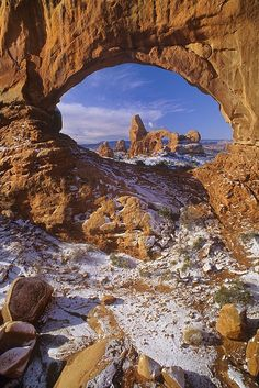 Turret Arch through North Window Arches National Park - Utah