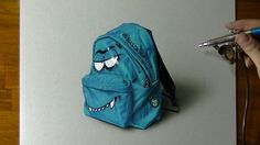 Drawing a cool rucksack - How to draw 3D Art - YouTube