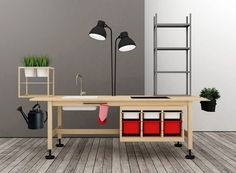 How's this for inventiveness? During Milan Design Week at Zona Tortona,designers from Testi di Legno exhibited a cool compact kitchen design assembled entirely from select Ikea pieces. DesignersE...