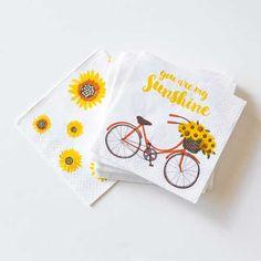 Autumn - Sunshine Paper Cocktail Napkins, 5