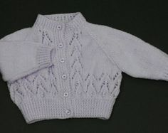 Knitting pattern Hooded Jacket or Round Neck Cardigan / PDF /