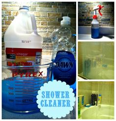 dawn and vinegar shower cleaner