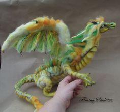 Felted dragon