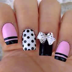 Hey there lovers of nail art! In this post we are going to share with you some Magnificent Nail Art Designs that are going to catch your eye and that you will want to copy for sure. Nail art is gaining more… Read Great Nails, Cute Nail Art, Fabulous Nails, Gorgeous Nails, Cute Nails, Perfect Nails, Fancy Nails, Trendy Nails, Pink Nails