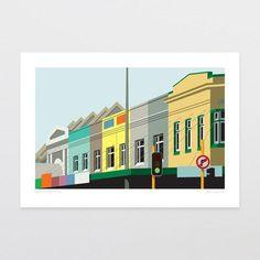 Heart Of Grey Lynn art print by Glenn Jones Fine Art Prints, Framed Prints, Kiwiana, Frame It, Good Ol, New Zealand, Colours, Wall Art, Grey