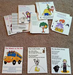 Nursery Rhymes and Preschool Song Printables @Julie Forrest Forrest Forrest Rice I thought you might like this for your class