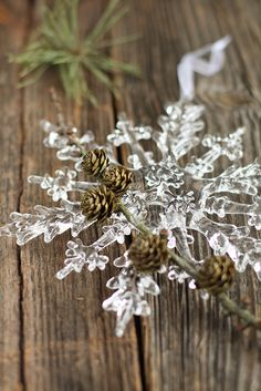 Plastic snowflakes are the most underrated decoration. Cheap and stunning!