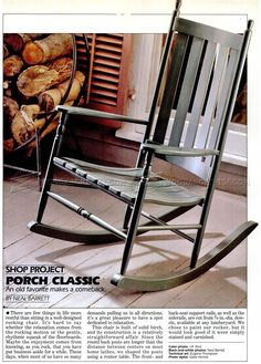 Classic Rocking Chair Plans - Furniture Plans