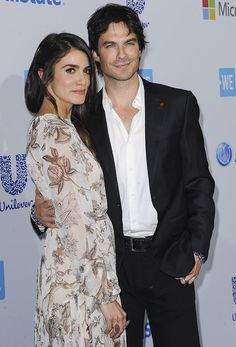 Nikki Reed and Ian Somerhalder at WE Day California 2016 held at The Forum in Inglewood, California on April 7, 2016