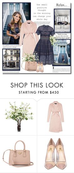 """""""One small positive thought in the morning can change your whole entire day!!"""" by lilly-2711 ❤ liked on Polyvore featuring Lux-Art Silks, Rochas, Prada, Semilla, women's clothing, women's fashion, women, female, woman and misses"""