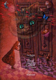Alice in Wonderland - Tim Burton Alicja w krainie czarow Limited edition art poster with the film subject Original Polish poster designer: Leszek Wisniewski year: 2010 size: B1