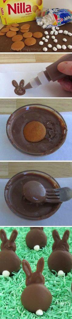 Chocolate Bunny Silhouettes #chocolates #sweet #yummy #delicious #food #chocolaterecipes #choco
