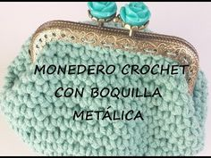 MONEDERO DE CROCHET- CROCHET PURSE - YouTube
