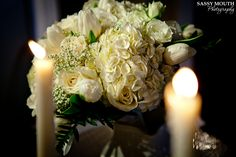 Bouquet of Winter White flowers - Winter wedding