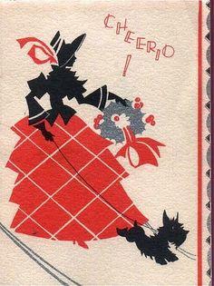 Vintage Scottie Card