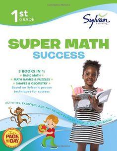 First Grade Super #Math Success (#Sylvan Super #Workbooks) (Math Super Workbooks)