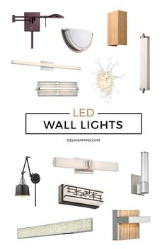 LED wall lights have the perfect match of design and style to provide a calm ambiance with efficient lamps. The fixture design allows the elegant lights to ensure maximum brightness while remaining energy efficient. | Del Mar Fans & Lighting