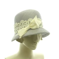 Blue Cloche Hat for Women - 1920s Vintage Style Panama Straw Hat - size Small. $225.00, via Etsy.