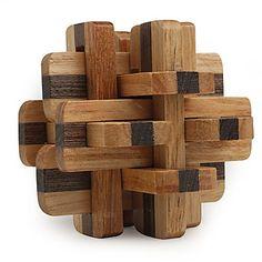 Rompecabezas de Cubo de Madera IQ de 12 Piezas – USD $ 3.49