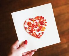Fiona Z Arts |Quilling Handmade Greeting Cards - Clay Arts