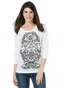 580bc5006dc6f Cato Fashions Embellished Scroll Stripe Top - Plus  CatoFashions Stripe Top
