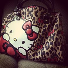 Leopard Hello Kitty...I will always think of you Julio when I see her....