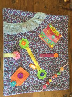 SOLD - Fidget Quilt Sensory Blanket made by The Fairy Felt Mother