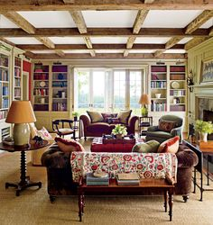 Traditional Living Room by G. P. Schafer Architect in Dutchess County, New York