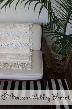 DIY Moroccan Wedding Blanket #weddingblanket #moroccan #diy
