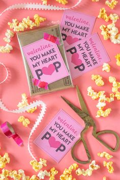 Printable Popcorn Valentines: You Make My Heart POP! | Club Crafted
