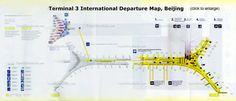 Beijing Airport T3 Map