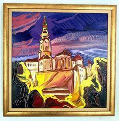Nočnou Nitrou, 45 x 45 cm, akryl na plátne, www.turzak-art.sk, #nitra #obrazynitry #turzakart #nitrianskyhrad Painting, Art, Craft Art, Paintings, Kunst, Gcse Art, Draw, Drawings, Art Education Resources