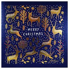 Buy Woodmansterne Golden Reindeer Luxury Christmas Cards, Pack of 6 Online at johnlewis.com