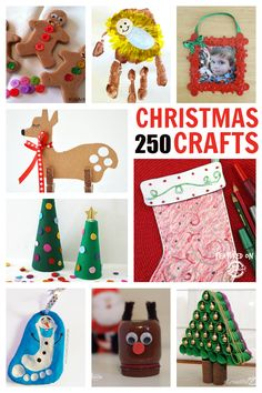 250 of the Best Christmas Crafts for kids! There are so many ideas here for kids holiday crafts.and they all have pictures! Holiday Crafts For Kids, Preschool Christmas, Christmas Activities, Xmas Crafts, Christmas Projects, Winter Christmas, Holiday Fun, Activities For Kids, Christmas Holidays