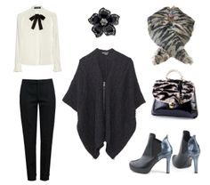 Prosta i elegancka propozycja na zimową porę - z lekką nutką dekadencji!  :)  Botki/Boots - Lella Baldi | Kołnierzyk/fur collar - Clara-Veritas | Torebka/Bag - Clara-Veritas | Koszula/shirt - Dolce & Gabbana | Spodnie/Trousers - Chloé | Poncho - Vince | Brosza/Brooch - Lauren