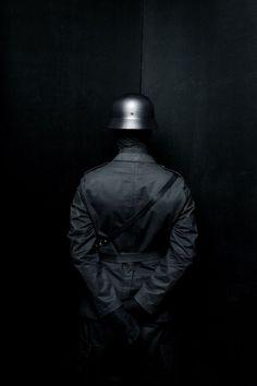 Dark on dark. Black Art, Black And White, Shadow People, German Soldiers Ww2, Marcus Black, Templer, War Photography, Foto Art, Pics Art