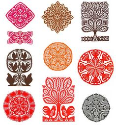 more polish paper craft Paper Art, Paper Crafts, Polish Folk Art, Scandinavian Folk Art, Ethnic Patterns, Tampons, Craft Fairs, Paper Cutting, Web Design